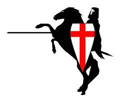 St George on horse - clip art